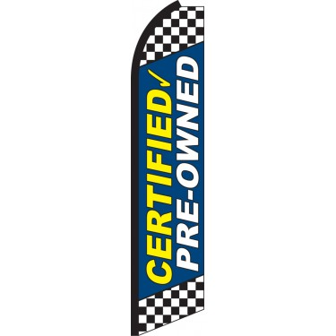 Certified Pre-Owned Blue Swooper Feather Flag