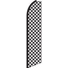 Checkered Black/White Swooper Feather Flag
