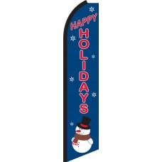 Happy Holidays Swooper Feather Flag
