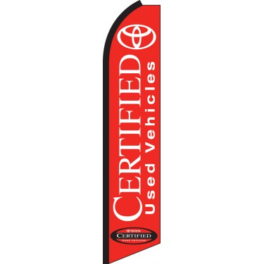 Toyota Certified Swooper Feather Flag