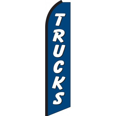 Trucks (Blue & White) Swooper Feather Flag