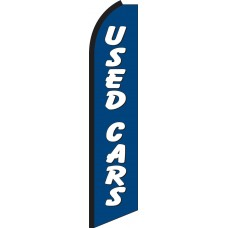 Used Cars (Blue & White) Swooper Feather Flag
