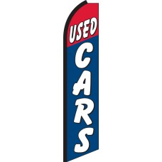 Used Cars Red/Blue Swooper Feather Flag