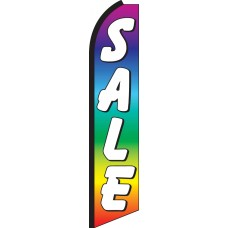 Sale Rainbow Swooper Feather Flag