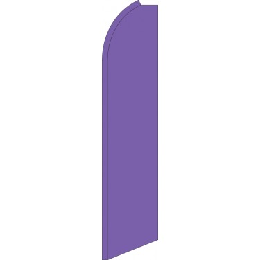 Solid Purple Swooper Feather Flag