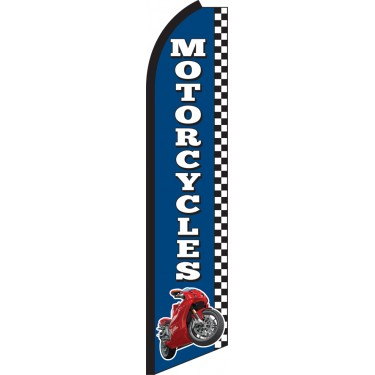 Motorcycles Swooper Feather Flag