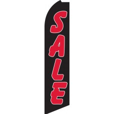 Sale (Black & Red) Swooper Feather Flag