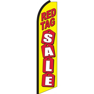 Red Tag Sale Swooper Feather Flag