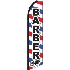 Barber Shop Swooper Feather Flag