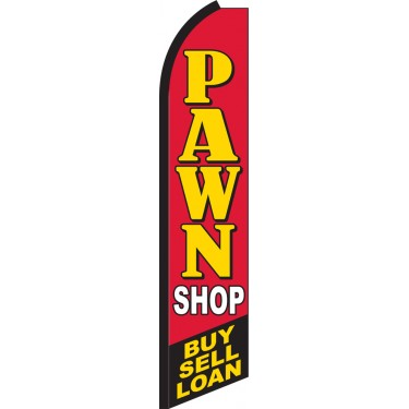 Pawn Shop - Buy, Sell, Loan Swooper Feather Flag