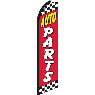 Auto Parts Swooper Feather Flag