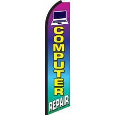 Computer Repair Swooper Feather Flag