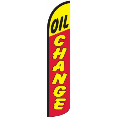 Oil Change Wind-Free Feather Flag