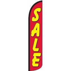 Sale (Red & Yellow) Wind-Free Feather Flag