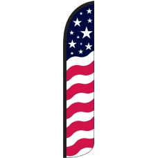 Stars & Bars Wind-Free Feather Flag