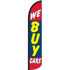 We Buy Cars Wind-Free Feather Flag