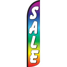 Sale Rainbow Wind-Free Feather Flag
