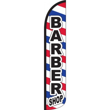 Barber Shop Wind-Free Feather Flag