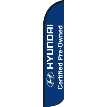 Hyundai Certified Wind-Free Feather Flag
