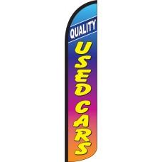 Quality Used Cars Rainbow Wind-Free Feather Flag