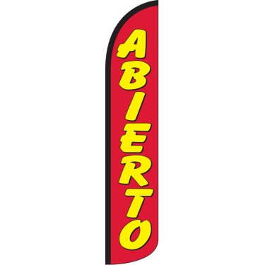 Abierto Wind-Free Feather Flag
