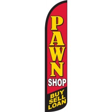 Pawn Shop - Buy, Sell, Loan Wind-Free Feather Flag