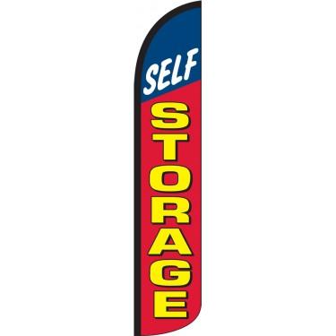 Self Storage Wind-Free Feather Flag