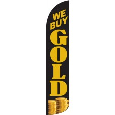 We Buy Gold Wind-Free Feather Flag
