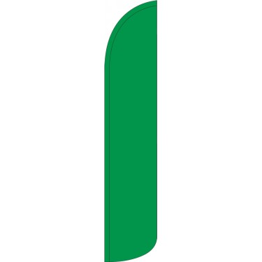Solid Green Wind-Free Feather Flag