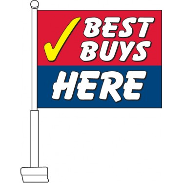 Best Buys Here Car Flag