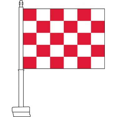 Checkered (Red & White) Car Flag