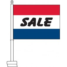 Sale (Red, White, & Blue) Car Flag
