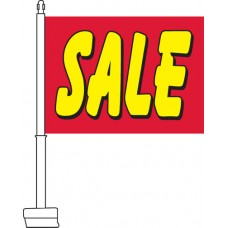 Sale (Red & Yellow) Car Flag