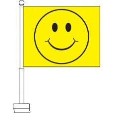 Smiley Face Car Flag