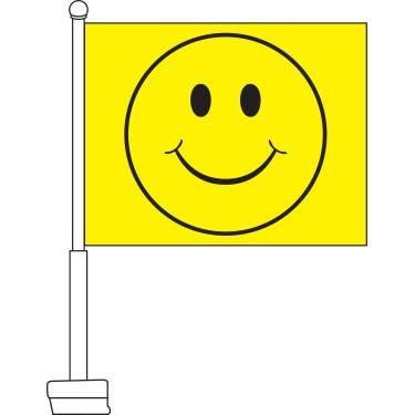 Smiley Face Car Flag