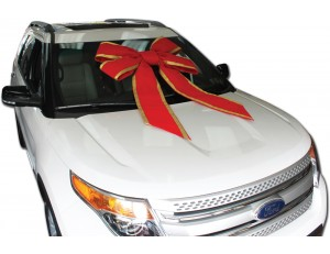 36 Inch Velvet Windshield Car Bow