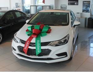 """30 Inch """"Happy Holidays"""" Car Bows"""